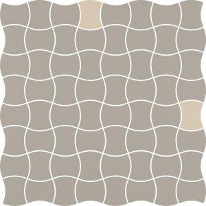 Mozaika prasowana Paradyż Modernizm Grys K.3,6x4,4 MIx B 30,86x30,86 cm