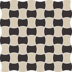 Mozaika prasowana Paradyż Modernizm Nero K.3,6x4,4 Mix C 30,86x30,86 cm