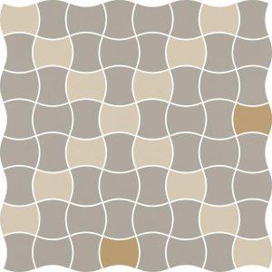 Mozaika prasowana Paradyż Modernizm Bianco K.3,6x4,4 MIx D 30,86x30,86 cm