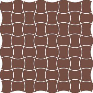 Mozaika prasowana Paradyż Modernizm Brown K.3,6x4,4 30,86x30,86 cm