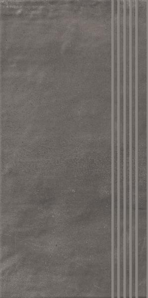 Stopnica prosta nacinana Paradyż Hybrid Stone Grafit 29,8x59,8 cm