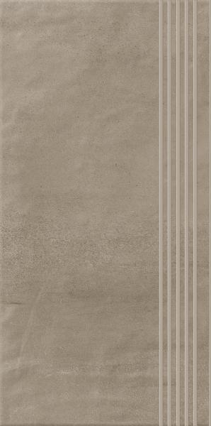 Stopnica prosta nacinana Paradyż Hybrid Stone Mocca 29,8x59,8 cm