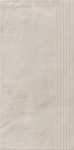 Stopnica prosta nacinana Paradyż Hybrid Stone Bianco 29,8x59,8 cm