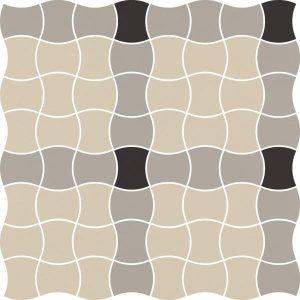 Mozaika prasowana Paradyż Modernizm Grys K.3,6x4,4 MIx A 30,86x30,86 cm