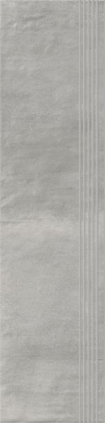 Stopnica prosta nacinana Paradyż Hybrid Stone Grys 29,8x119,8 cm
