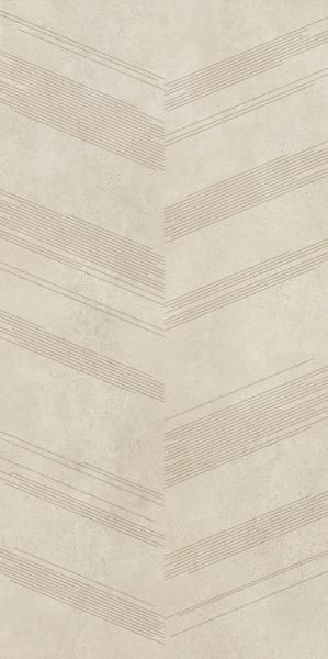 Płytka podłogowa Paradyż Silkdust light Beige Mat Dekor 59,8x119,8 cm