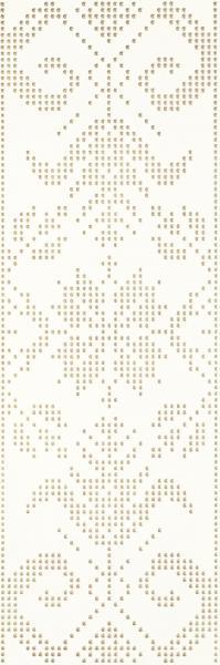 Mozaika prasowana Paradyż Caya Bianco Inserto A 25x75 cm