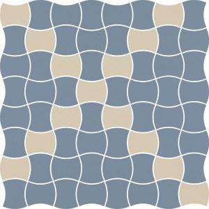 Mozaika prasowana Paradyż Modernizm Blue K.3,6x4,4 MIx 30,86x30,86 cm