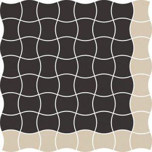 Mozaika prasowana Paradyż Modernizm Nero K.3,6x4,4 Mix A 30,86x30,86 cm