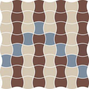 Mozaika prasowana Paradyż Modernizm Bianco K.3,6x4,4 Mix B 30,86x30,86 cm