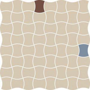 Mozaika prasowana Paradyż Modernizm Bianco K.3,6x4,4 Mix A 30,86x30,86 cm