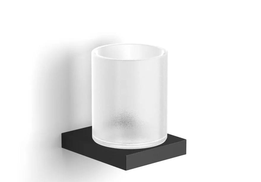 Uchwyt ze szklanką Stella Kobe szkło/czar 10.411-B