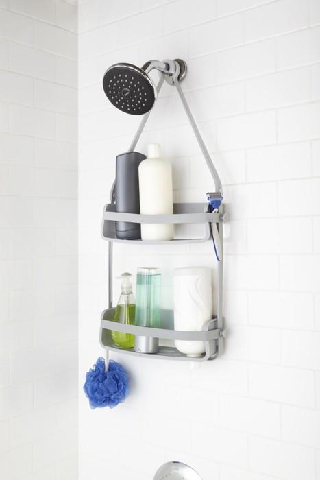 Zdjęcie Półka pod prysznic  szara Umbra Flex 023460-918