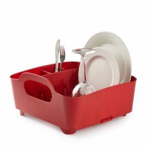 Suszarka na naczynia czerwona Umbra Tub 330590-505