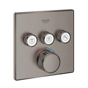 GROHE Grohtherm SmartControl - podtynkowa bateria termostatyczna do obsługi trzech wyjść wody  brushed hard graphite 29126AL0