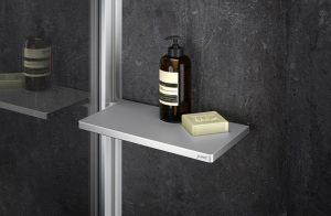 Półka prysznicowa Tablet Huppe Select+ srebrny matowy SL2101087