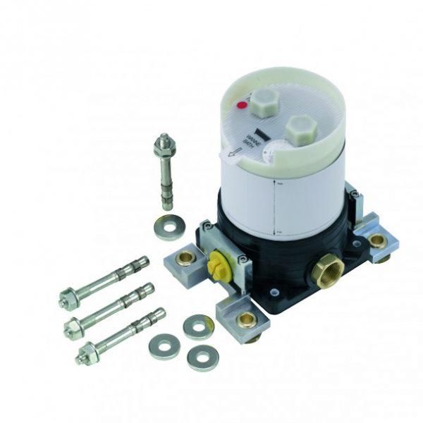 Zdjęcie Bateria wannowo-natryskowa Kludi Zenta SL wolnostojąca z zestawem elementów wew. chrom 485900565 + 88 088