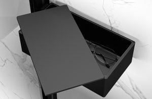 Zamykana półka prysznicowa Drybox Huppe Select+ Black Edition SL2201123