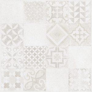 Płytka podłogowa Raco Betonico Biało-szara Dekor 59,8 x 59,8 cm DAK63795