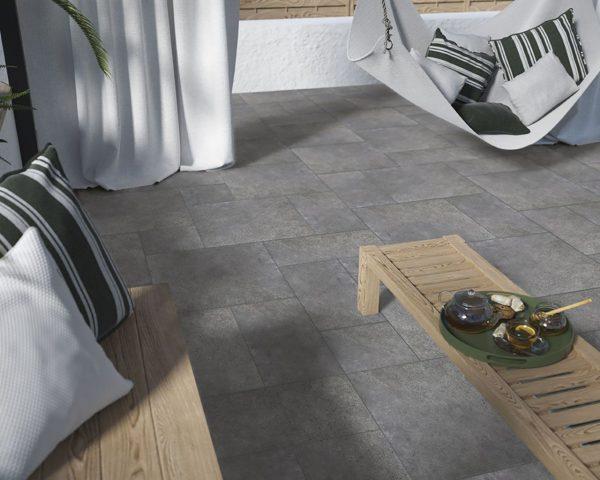 Zdjęcie Płytka podłogowa Paradyż Optimal 2.0 Antracite 20 mm Mat  59,5×59,5 cm