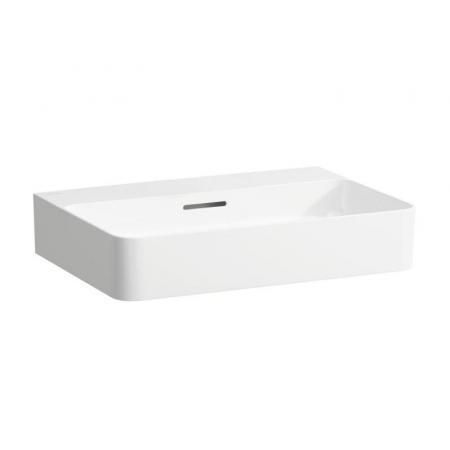 Umywalka nablatowa Laufen Val 60x42 cm bez otworu z przelewem biały H8162830001091