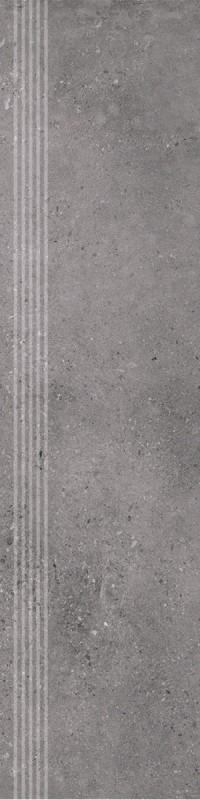 Stopnica frezowana Natura Nowa Gala Geotec 13 Ciemnoszary 597x297x8,5 mm