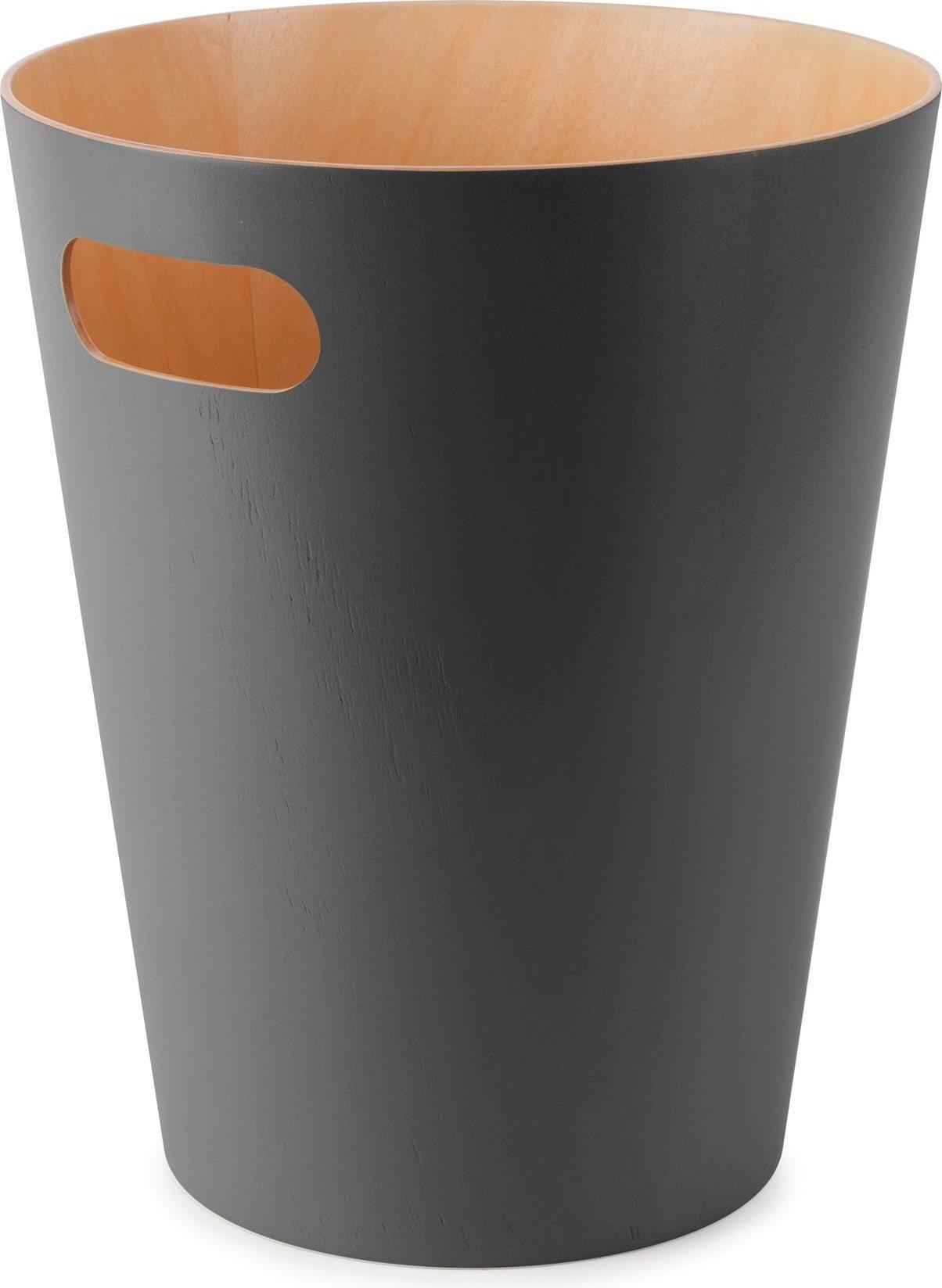 Kosz na śmieci Umbra Woodrow charcoal/natural 082780-618