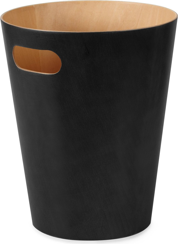 Kosz na śmieci Umbra Woodrow czarny/natural  082780-045