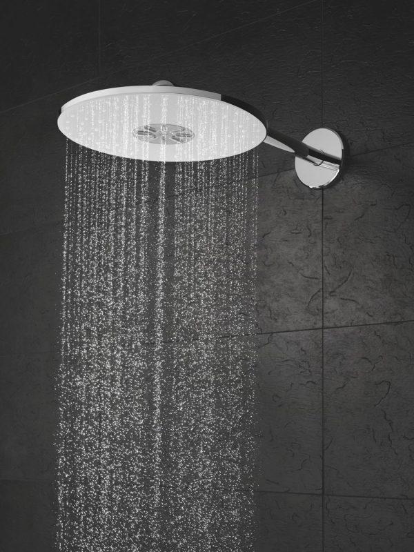 Zdjęcie GROHE Rainshower 310 SmartActive – deszczownica, 2 strumienie, z ramieniem prysznicowym stal nierdzewna 26475DC0