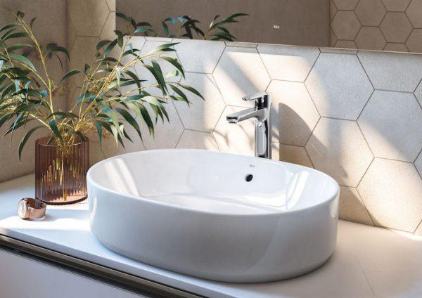 Zdjęcie Umywalka nablatowa owalna Roca Gap 55×39 cm Maxi Clean biały A3270Y100M