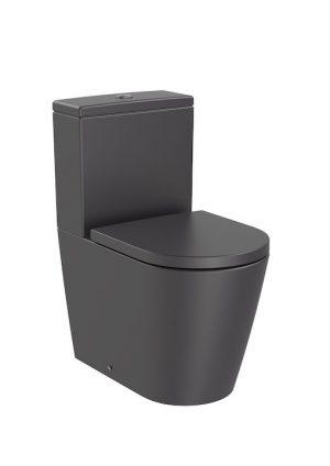Miska WC do kompaktu Rimless o/podwójny Roca Inspira Round 37,5x60 cm onyks A342529640