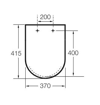 Zdjęcie Deska WC wolnoopadająca Roca Inspira Round Compacto Supralit onyks A80152C64B