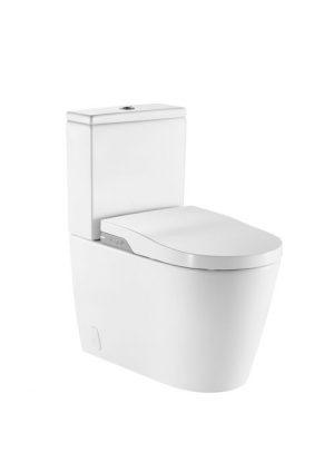 n-Wash® - toaleta myjąca Roca Inspira typu kompakt, bezkołnierzowa - Rimless, zasilanie 230V biały A80306L001