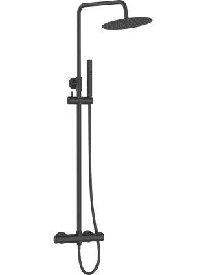 Kolumna natryskowa z baterią termostatyczną Laveo Pretto Czarny PLP_70TD