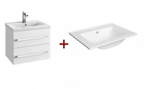 Zestaw meblowy Defra Granada 60 x39,8x47,5 cm + umywalka Defra Plan 61x47 cm biały 167-D-06009+1722