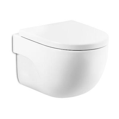 Zdjęcie Miska WC podwieszana Roca Meridian Rimless Compacto 48×36 cm Maxi Clean biały A346244000M