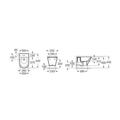 Zdjęcie Bidet podwieszany (ukryte mocowania) Roca Gap Round 35,5×54 cm biały Maxi Clean A3570N6000