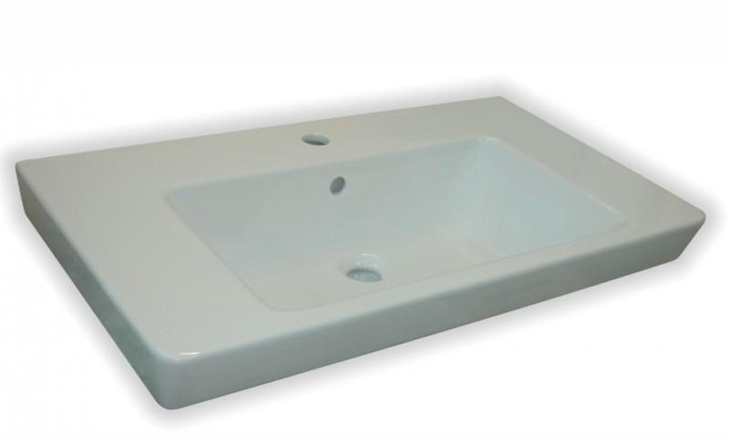 Umywalka wisząca / meblowa Roca Caserta 80x45 cm biały A3270J0000