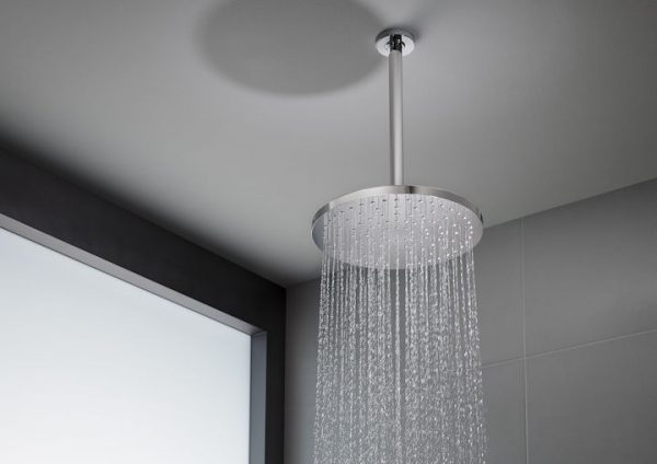 Zdjęcie Glowica prysznicowa okrągła ø300 Roca Rainsense czarny A5B3950CN0