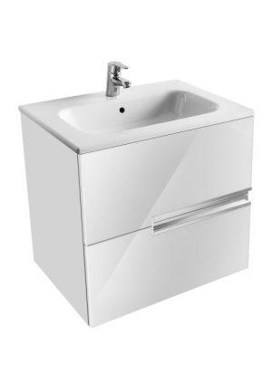 Zestaw łazienkowy Unik 60 cm z 2 szufladami Roca Victoria Nord biały połysk A851507806