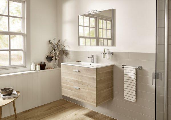 Zdjęcie Szafka łazienkowa 2 szuflady 80 cm Roca Victoria Basic cedr A856576423