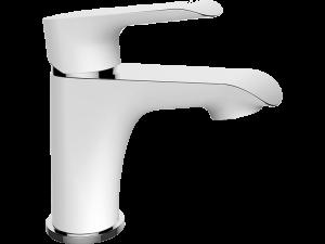 Bateria umywalkowa stojąca z korkiem Laveo Alea biały/chrom BLE_622D