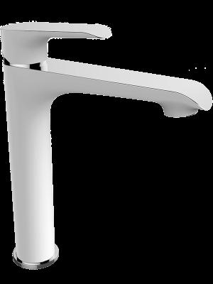 Bateria umywalkowa stojąca nablatowa Laveo Alea biały/chrom BLE_62ND