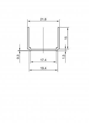 Profil poszerzający Roca Town-N 15x195 cm AMP2919502