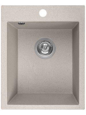 Zlewozmywak granitowy Laveo Chichi 48x39 cm 1-komorowy beżowy SBH_410T