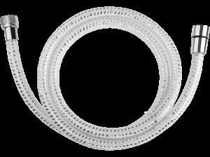 Wąż natryskowy PVC 1500 mm Laveo Goma biały/chrom CRG_64PD