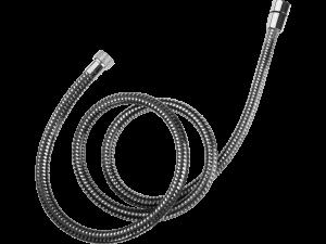 Wąż natryskowy PVC 1500 mm Laveo Goma czarny/chrom CRG_74PD