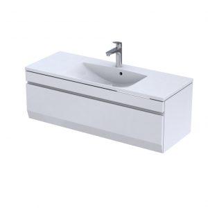 Szafka podumywalkowa 120 cm Oristo Horyzont jedna szuflada biały mat  OR37-SD1S-120-2