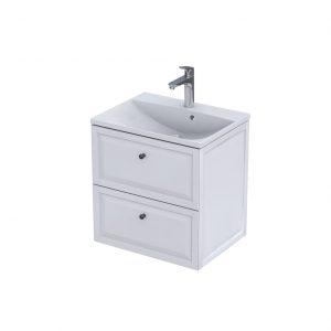Szafka podumywalkowa 60 cm Oristo Montebianco 2 szuflady biały mat  OR47-SD2S-60-2