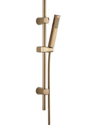 Zestaw natryskowy na drążku Laveo Pola różowe złoto NAP_81A1